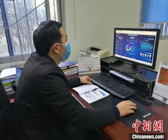 成都农业科技职业学院开展线上教学监测。四川省教育厅供图
