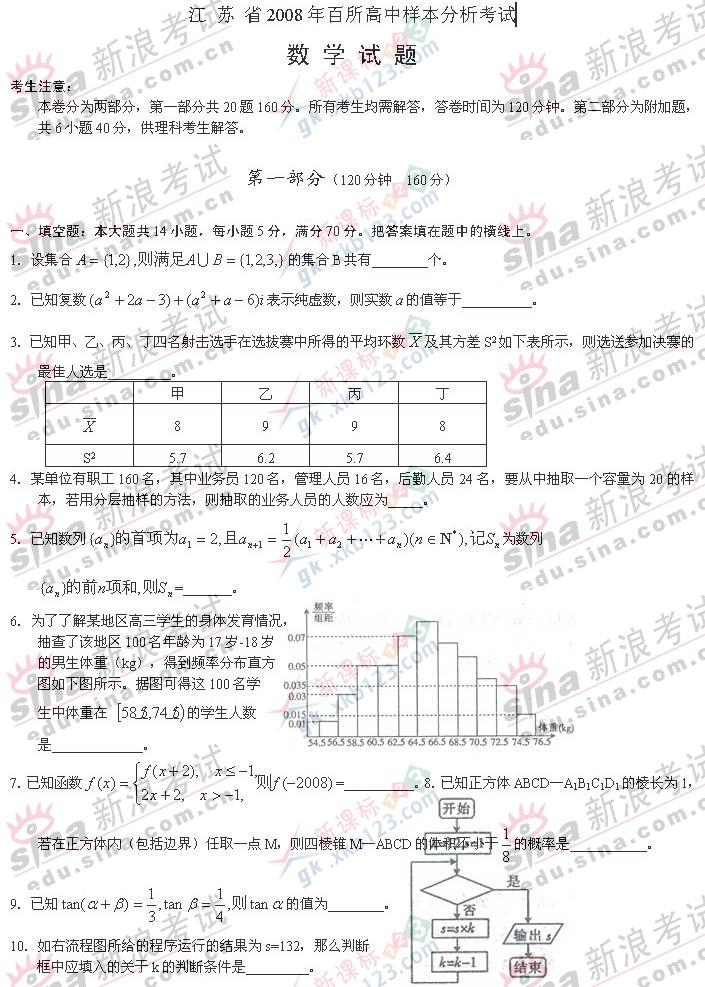 样本分析考试数学试卷