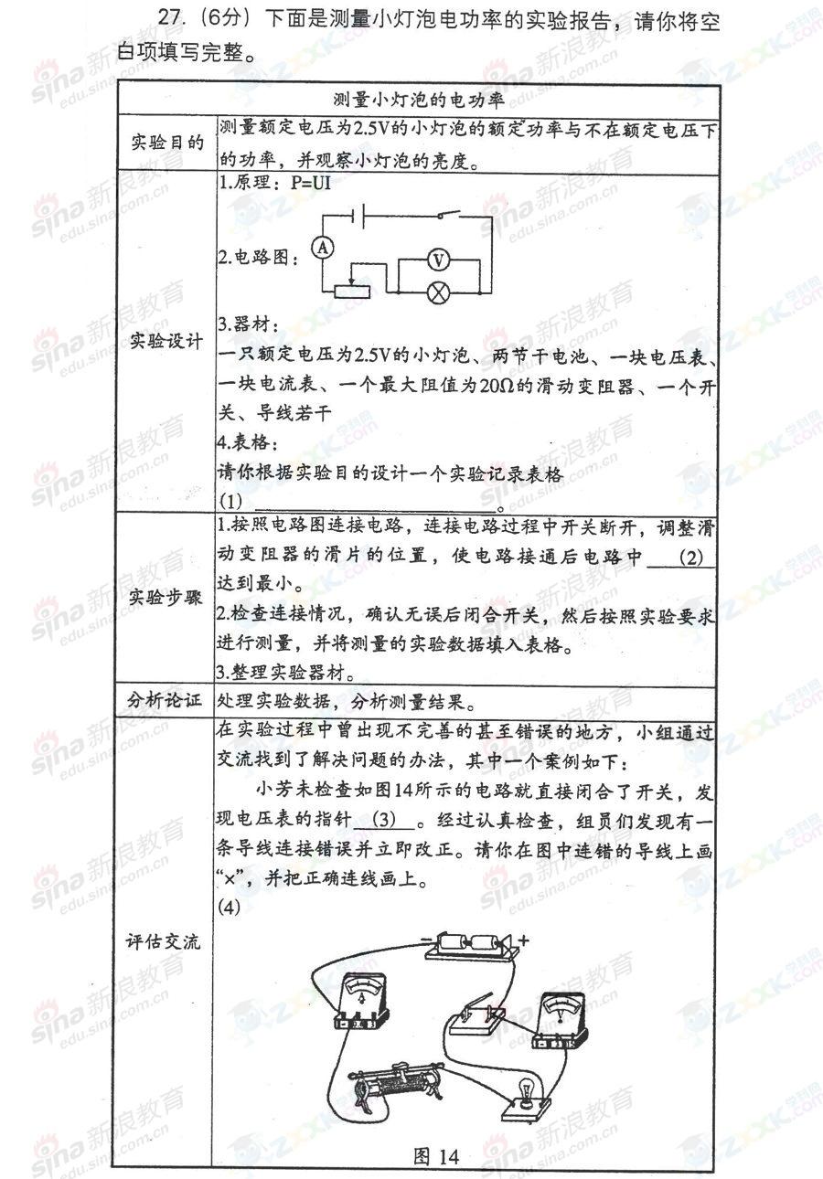 2013年辽宁沈阳中考物理试题(完整版)[16]