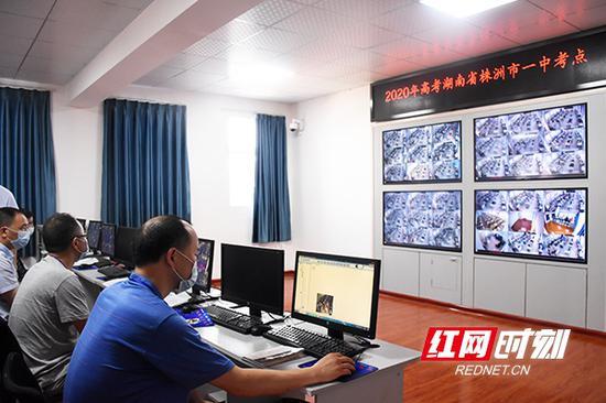 湖南省株洲市第一中学考点,考场内,全部覆盖了监控系统。