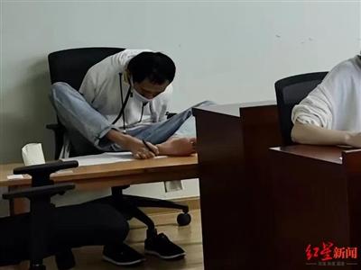 今年3月,彭超参加研究生复试资格考试